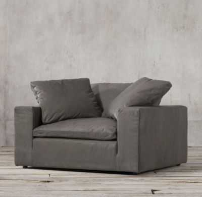 CLOUD TRACK ARM LEATHER CHAIR - RH