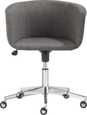 Coup grey office chair - CB2