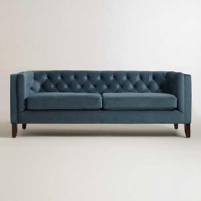 Midnight Blue Kendall Velvet Sofa - World Market/Cost Plus