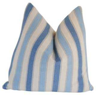 Hampton's Stripe & French Linen Pillow - One Kings Lane