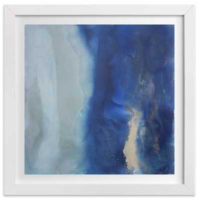 """Ebbing Tide - 11"""" x 11"""" -With  White Frame - Domino"""