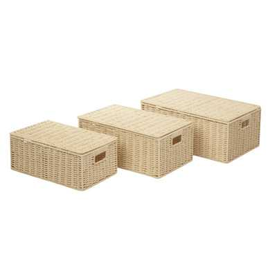 Paper Rope 3 Piece Basket Set - Wayfair