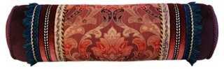 Italian Tapestry Velvet Bolster Pillow - One Kings Lane