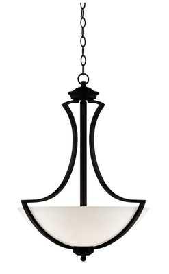 "Possini Euro Milbury 19 1/2"" Wide Dark Bronze Pendant Light - Lamps Plus"