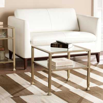 Upton Home Matte Gold Metal/ Glass Bunching Coffee/ Cocktail Table - Overstock