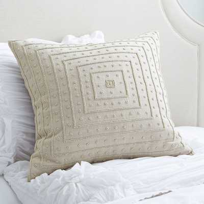 Liv Beaded Pillow Cover - insert not included - Birch Lane