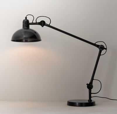 ORVILLE OVERSIZED TASK TABLE LAMP BLACK - RH Teen