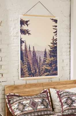 Kurt Rahn Mountains Through The Trees Art Print- 18X24- Unframed - Urban Outfitters