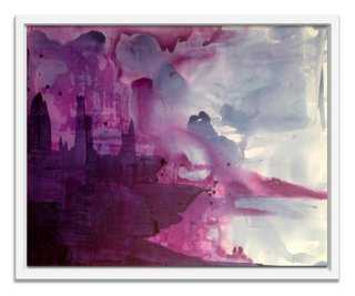 "Linda Colletta, Blueberry Blush - 26"" x 21""; image size, 24"" x 19"" - Framed - One Kings Lane"