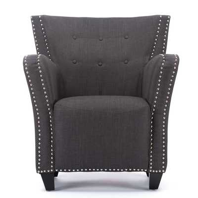 Acton Wood And Linen Contemporary French Accent Chair - Overstock