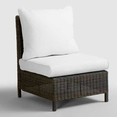 All-Weather Wicker Solano Sectional Armless Chair - World Market/Cost Plus