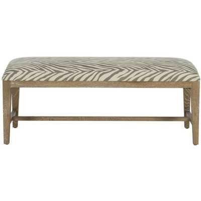 Safavieh Zambia Grey Zebra Bench - Overstock