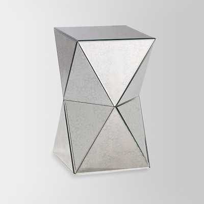 Faceted Mirror Side Table - West Elm