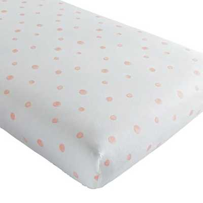 Washed Dot Crib Fitted Sheet - Land of Nod