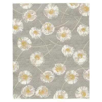 Dandelion Special Order Wool Rug - Colored Background - West Elm