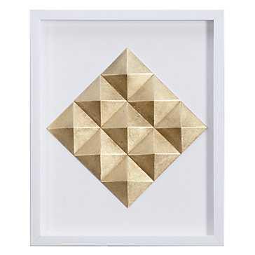 Gold Diamond - 17.75''W x 21.75''H   - framed - Z Gallerie