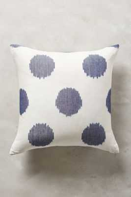 Ink Drop Blue Pillow - 18x18 - With Insert - Anthropologie