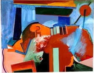 """Blue & Orange, 1975- 24"""" L x 18.75"""" H- Unframed - One Kings Lane"""