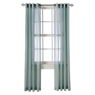 "Linen Grommet Sheer Curtain Panel - 84"" - Target"