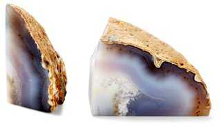 Pair of Agate Bookends - One Kings Lane