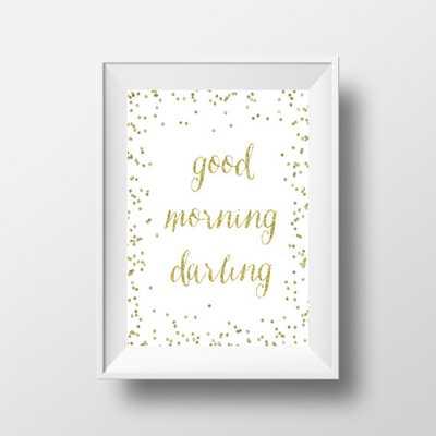 Good Morning Darling Gold Print - 8x10 - Unframed - Etsy