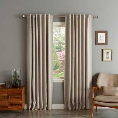 """Aurora Home Solid Insulated Thermal Blackout Curtain Panel Pair- 84"""" L - Overstock"""