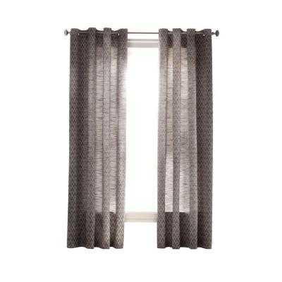 Diamond Sky Grommet Curtain - Zinc - Home Depot