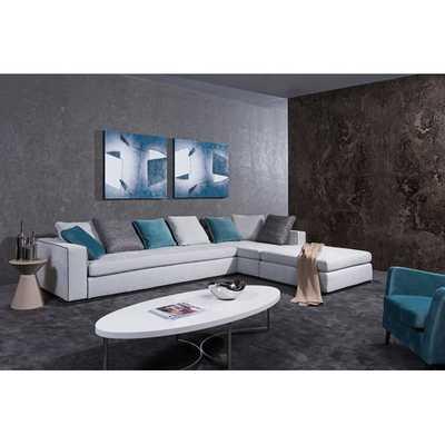 Divani Casa Whitley Modern Sectional Sofa with Ottoman by VIG Furniture - AllModern