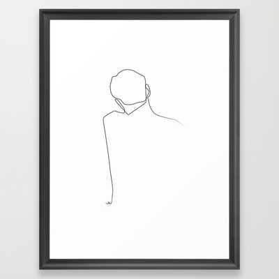 """Back line - 15"""" X 21"""" - Framed - Society6"""