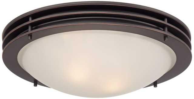 "Contemporary 16"" Wide Bronze Ceiling Light - Lamps Plus"