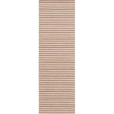 "Ravena Ivory & Mocha Striped Area Rug - 2'6"" x 8' - Wayfair"