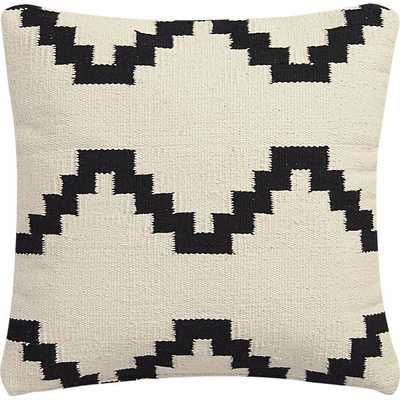 "Zbase 16"" pillow with feather insert, Ivory - CB2"