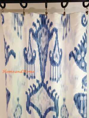 Pair of rod Curtains drapery panels designer window treatment - Etsy