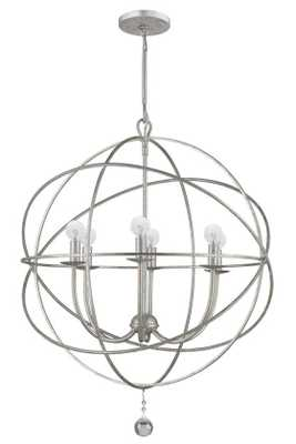 SOLARIS CHANDELIER - 6-Light Small (Olde Silver) - Home Decorators