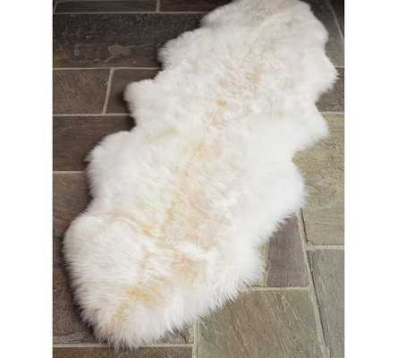 Sheepskin Rug, 2' x 6', Ivory - Pottery Barn