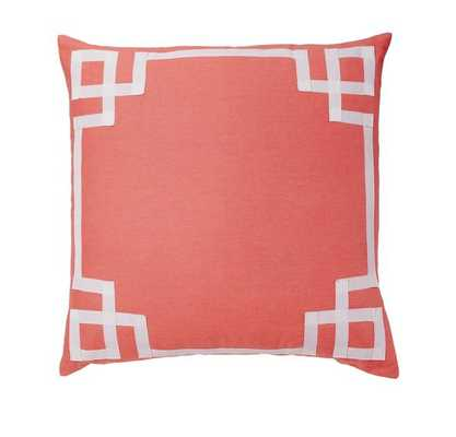 "Coral Deco Pillow-20"" x 20"" - Insert sold separately - Caitlin Wilson"