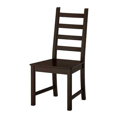 KAUSTBY Chair, brown-black - Ikea