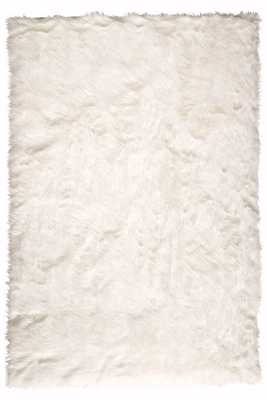 FAUX SHEEPSKIN AREA RUG - WHITE - 5' x 8' - Home Decorators