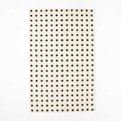 Grid Dot Wool Rug - West Elm