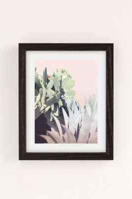 "Wilder California Agave And Prickly Pear Art Print - 8"" x 10"" - Framed - Urban Outfitters"