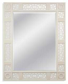 "40""x50"" Lacquer Mirror, White - One Kings Lane"