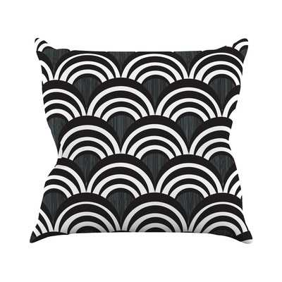 "Art Deco Throw Pillow- Black-16""x16""-Insert - Wayfair"