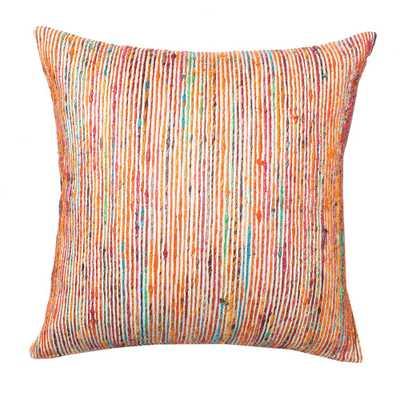 Dhurri Style Pillow Rust/Multi - Domino