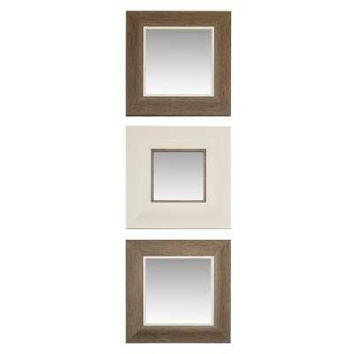 "Thresholdâ""¢ Roxey Mirror 3 Pack - Gray/Ivory - Target"
