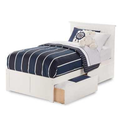 Nantucket Flat Panel Bed - Twin - White - Wayfair
