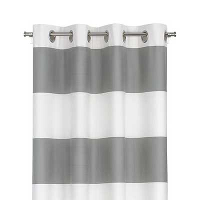 "Alston Ivory/Grey 50""x96"" Curtain Panel - Crate and Barrel"