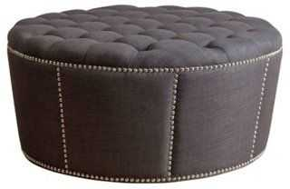 Hampton Round Ottoman - One Kings Lane