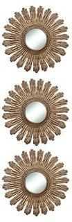 Sunburst Accent Mirror Set, Gold - One Kings Lane