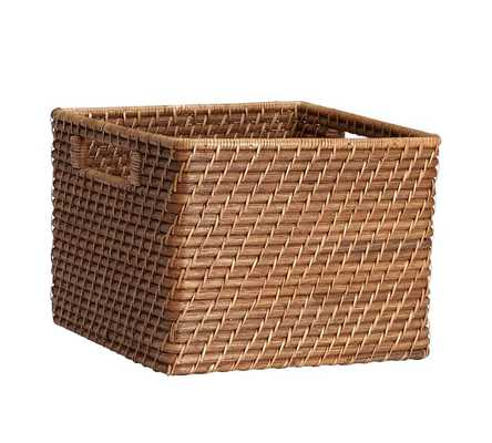 CLIVE SQUARE HANDLED UTILITY BASKET - Pottery Barn