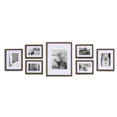 Gallery 7 Piece Perfect Wall Picture Frame Set - Walnut - Wayfair